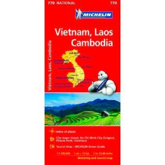 Mapa National - Vietnam, Laos, Camboya