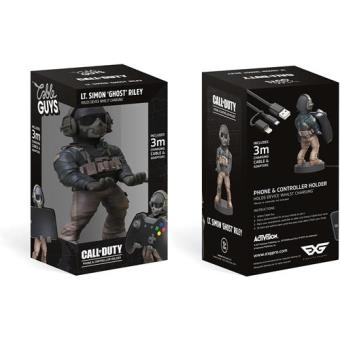 "Cargador mando Call of Duty Modern Warfare Cable Guy Lt. Simon ""Ghost"" Riley PS4"