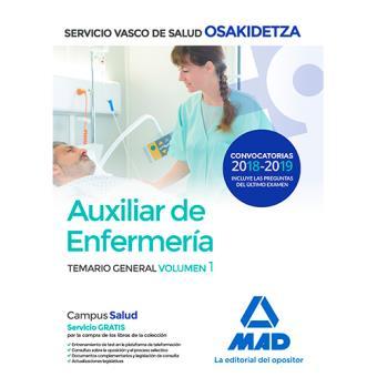 Auxiliar de Enfermería de Osakidetza-Servicio Vasco de Salud - Temario General Volumen 1