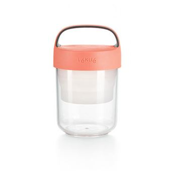 Tupper Lékué Jar To Go 400 ml Coral