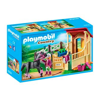 Playmobil Country Caballo árabe con establo