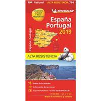 "Mapa National España - Portugal ""Alta Resistencia"""