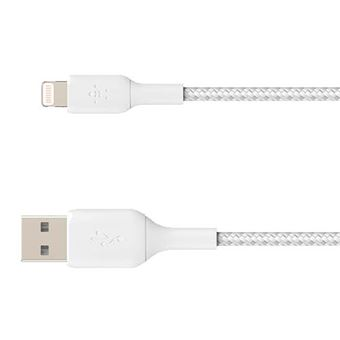Cable Belkin Boost Charge Lightning a USB-A Blanco 15 cm