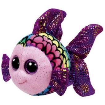 Peluche Beanie Boos pez de colores Flippy 15 cm