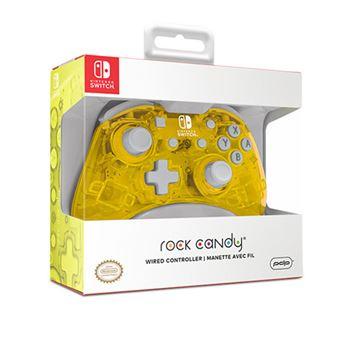 Mando Mini PDP con Cable Rock Candy Amarillo Pop Glow para Nintendo Switch