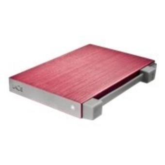 Lacie Rikiki Go 500 GB Rojo Disco duro portátil PC/Mac