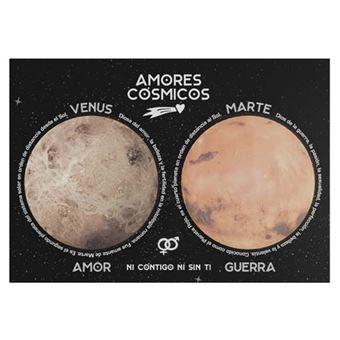 Set de 2 notas adhesivas Amores cósmicos Venus y Marte