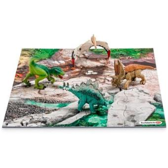 Set figuras + puzzle Schleich Mini dinosaurio
