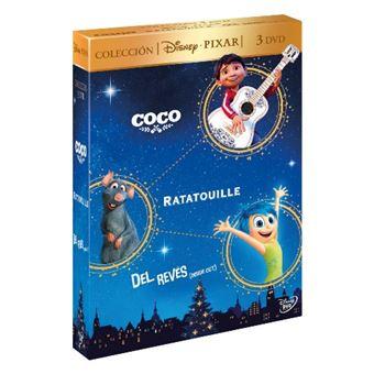 Pack Pixar:  Coco + Ratatouille + Del revés  - DVD