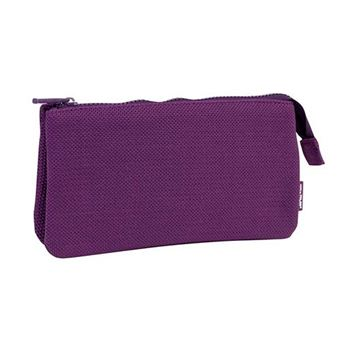 Portatodo Milan de 3 compartimentos Knit Deep Purple lila