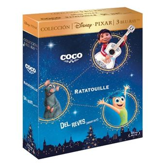 Pack Pixar:  Coco + Ratatouille + Del revés  - Blu-Ray