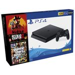 Consola PS4 Slim 500GB + Grand Theft Auto V + Red Dead Redemption 2