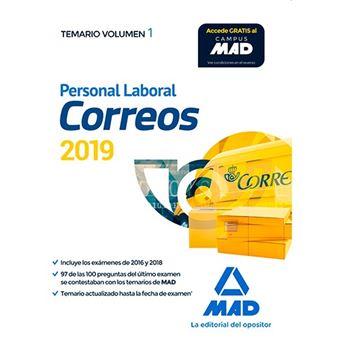Personal Laboral de Correos y Telégrafos - Temario volumen 1