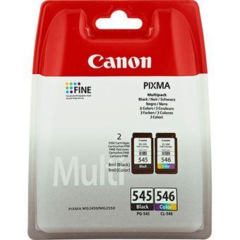 Canon Cartucho de Tinta de Color y Negro Multipack PG-545 / CL-546