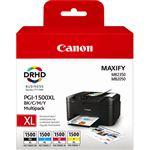 Pack de Cartucho de tintas 4 colores (CMYK) Canon PGI-1500XL 9182B004