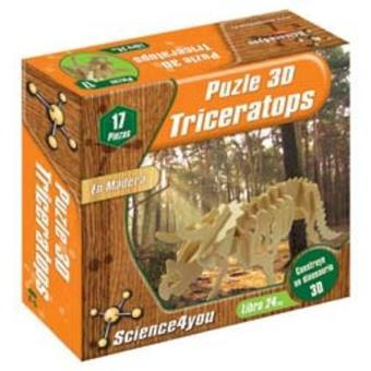 Puzzle 3D madera Triceratops