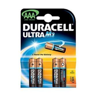 DURACELL Pila Alcalina AAA LR03X4