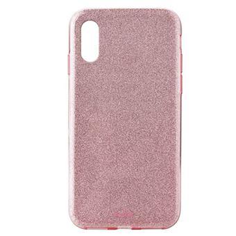 Funda Puro Shine para iPhone Xr Oro rosa