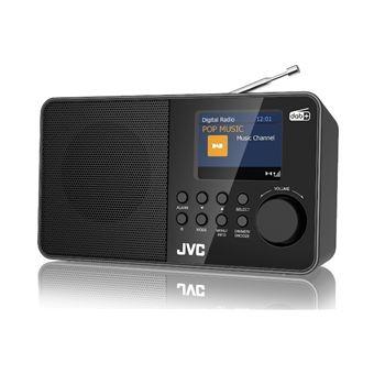 Radio despertador JVC RA-F39W-DAB Negro