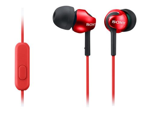 Auriculares Sony MDR-EX110AP (Android) Rojo