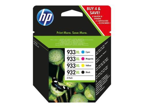 HP 932XL Black/933XL Cyan / Magenta / Amarillo 4-pack de cartuchos de tinta