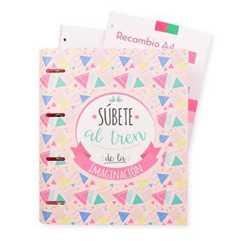 Carpeblock 4 anillas premium Amelie Classic rosa