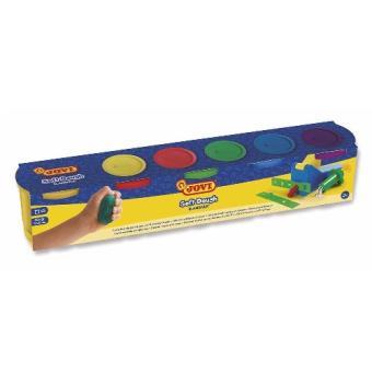 Jovi Soft Dough Blandiver 5 botes de pasta blanda para modelar