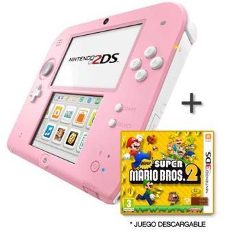 Nintendo 2ds Rosa Y Blanca New Super Mario Bros 2 Consola Los