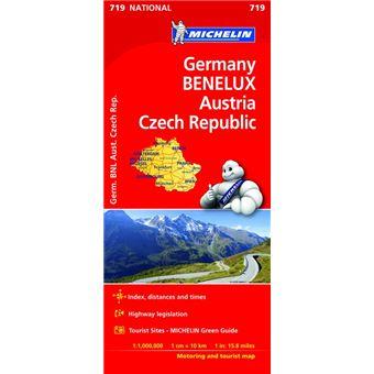 Mapa National Alemania Benelux Austria Rep -  Checa
