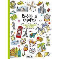 Busca y colorea- Viaje alrededor del mundo