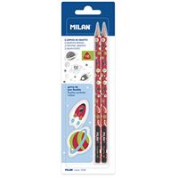 Pack Milan 2 lápices HB + 2 gomas