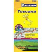 Toscana. Mapa 358 Michelín