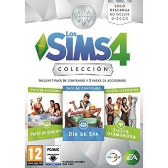 Los Sims 4 Colección Día de Spa + Accesorios Patio de Ensueño y Fiesta Glamurosa PC