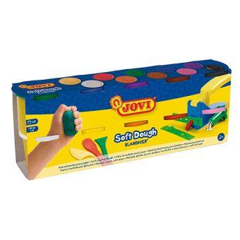 10 botes de pasta blanda Jovi Soft Dough Blandiver para modelar