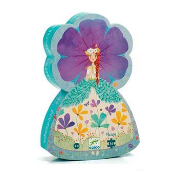 Puzzle silueta La princesa de primavera Djeco