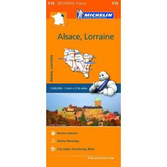 Mapa Regional Alsace, Lorraine
