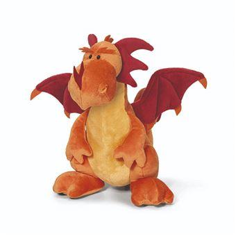 Peluche Dragón sentado Naranja 20 cm