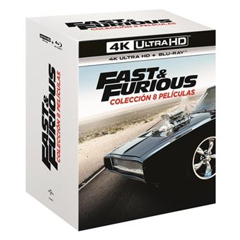 Pack Fast & Furious (A todo gas) 1-8 - UHD + Blu-Ray