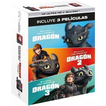 Pack Cómo entrenar a tu dragón 1-3 - UHD + Blu-Ray