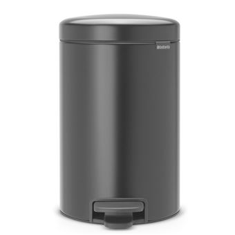 Cubo de basura con pedal Brabantia NewIcon 12 L Negro mate