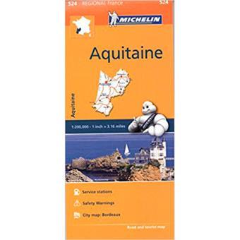Michelin Regional Maps: France. Aquitaine