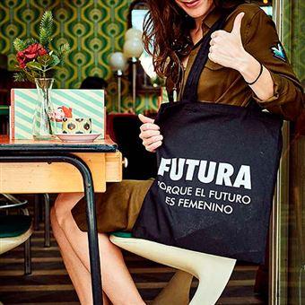 "Tote bag Futura ""Porque el futuro es femenino"" negra"