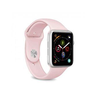 Set 2 correas de silicona Puro Rosa para Apple watch 42-44mm Tallas S/M y M/L