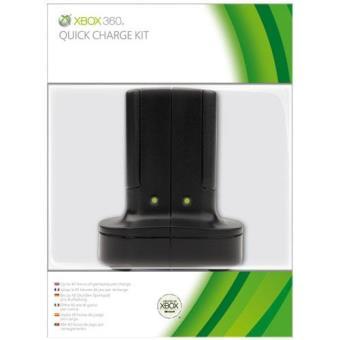 Microsoft Kit Carga Rápida Negro Xbox 360