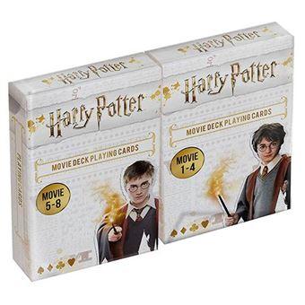 Dúo pack juego de cartas (películas 1 a 8) Harry Potter Cartamundi