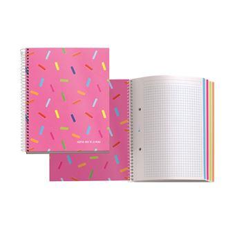 Cuaderno Espiral A5 Polipropileno 120 Hojas Cuadriculado Miquelrius Agatha Ruiz de la Prada Caramelos
