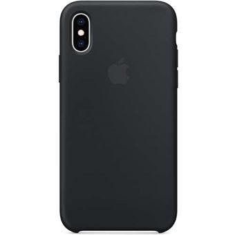 Funda Apple Silicone Case Negro para iPhone Xs