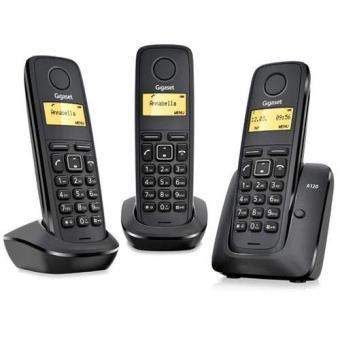 Gigaset Teléfono DECT Inalámbrico A120 Negro TRIO