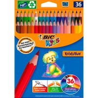 36 lápices de colores Bic Kids Evolution