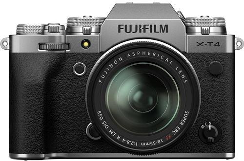 Cámara EVIL Fujifilm X-T4 + XF 18-55 mm Plata Kit